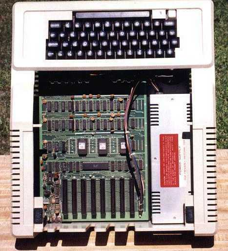 Cloned Apple II PC Showing Motherboard