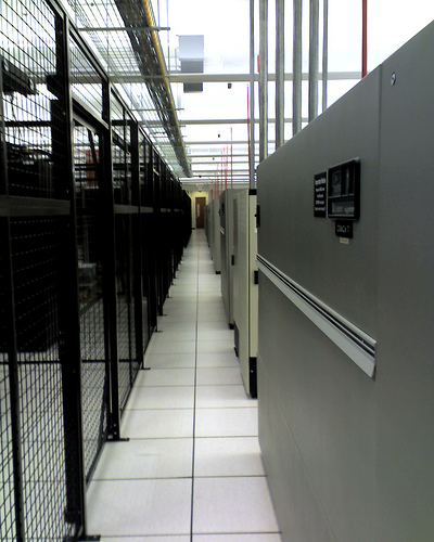 Rows of server racks