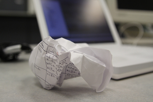 Crumpled Frustration, by Aaron Jacobs