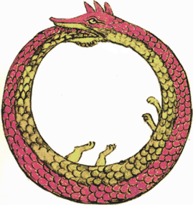 Ouroboros, a common symbol for self-referentiality