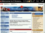 The home page for cic.gc.ca, as rendered on Blackberry