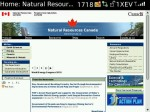 The home page for NRCan.gc.ca (with javascript), as rendered on Blackberry