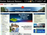 The home page for NRCan.gc.ca (no javascript), as rendered on Blackberry
